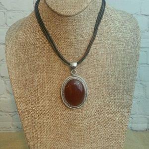 Jewelry - Sterling Silver Red Jasper Pendant